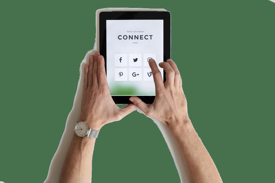 kết nối mạng xã hội với nhau