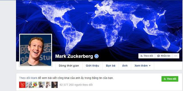 tích xanh của chủ Facebook
